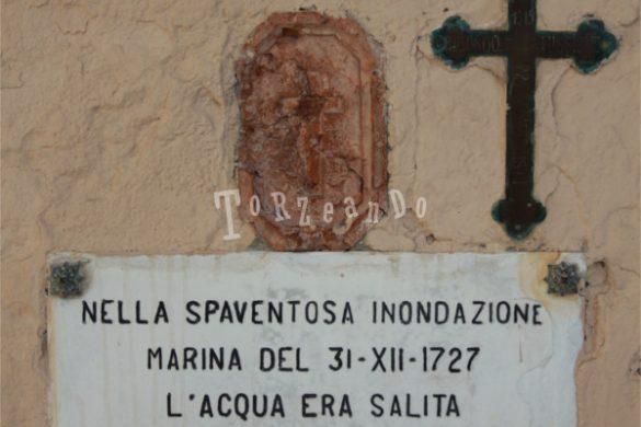 Targa dell'inondazione del 1727 al Santuario della Madonna dell'Angelo a Caorle