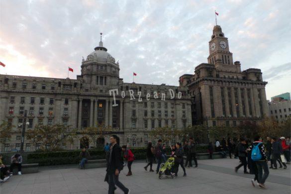 Il quartiere Bund di Shanghai, Cina