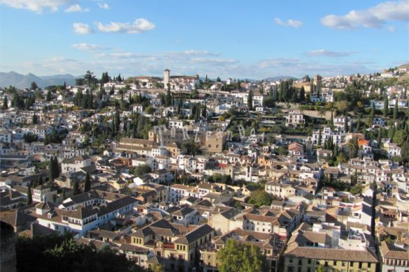 Veduta del quartiere di Albaycin a Granada