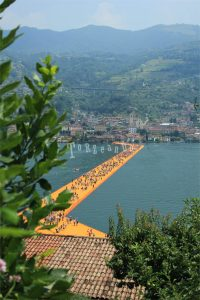 The Floating Piers di Christo, vista dall'alto