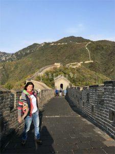 Sara de Colle alla Grande Muraglia cinese
