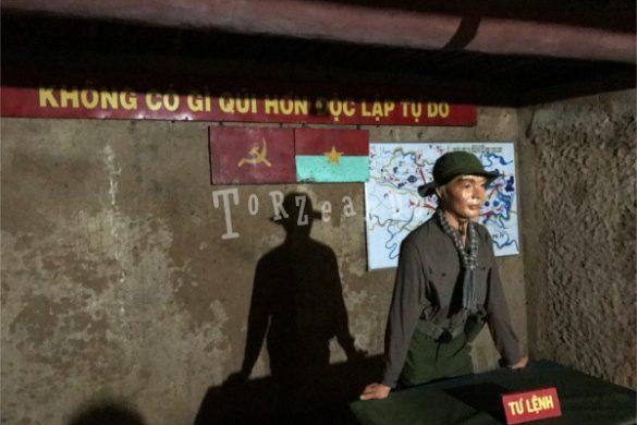 Stanza del comandante nei tunnel di Cu Chi, Ho Chi Minh
