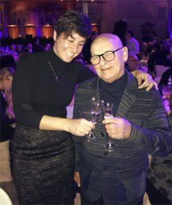 Sara de Colle brinda con Benito Nonino