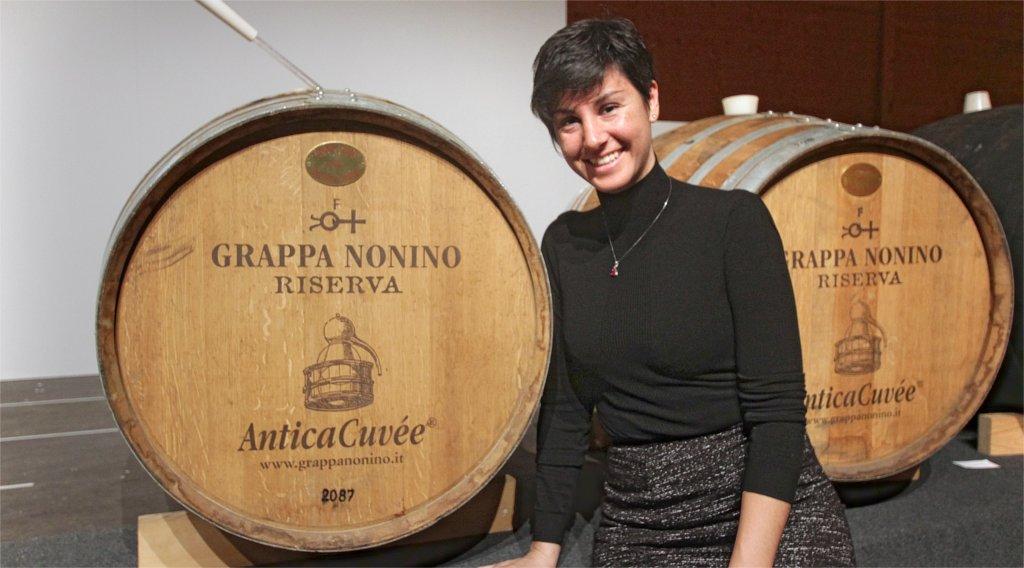Sara de Colle alla distilleria Nonino