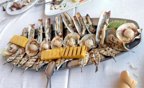 gratinati e pesce ai ferri di Comacchio