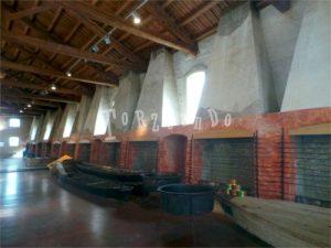 sala fuochi della manifattura marinati a Comacchio