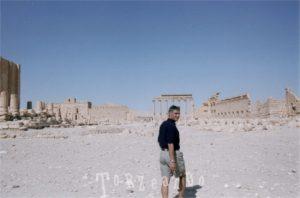 La nostra guida Hussam a Palmira in Siria