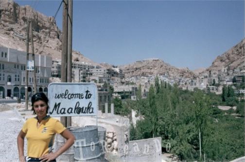 Sara de Colle a Maaloula in Siria
