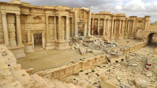 Teatro romano di Palmira in Siria distrutto