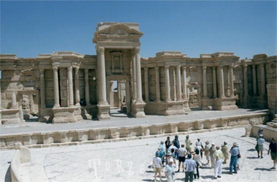 Il teatro romano di Palmira in Siria