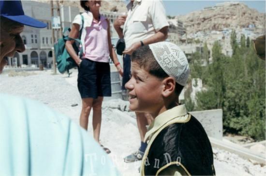 Bambino della città di Maaloula in Siria