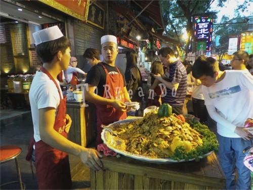 Street food al mercato musulmano di Xi'An