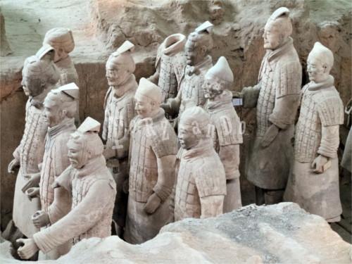 Soldati dell'Esercito di Terracotta a Xi'An
