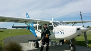 imbarco sull'aeroplano a Kaikoura per il whales watching