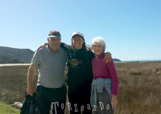 Sara de Colle con zio Joe e zia Maureen in Nuova Zelanda