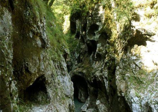 Canyon e torrente in Val D'Arzino in Friuli Venezia Giulia