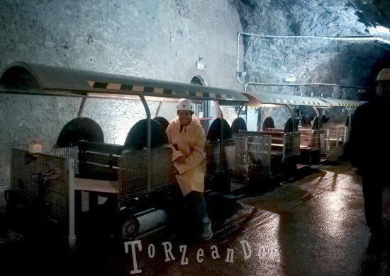 Sara de Colle in visita alla miniera di Cave del Predil