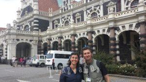 Athol Parks e Sara de Colle a Dunedin