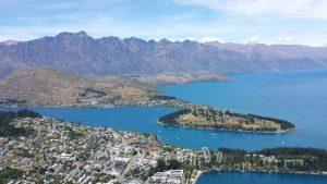 Vista dall'aereo di Queenstown in Nuova Zelanda