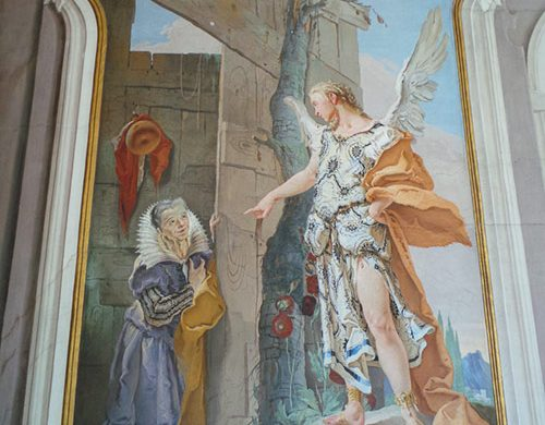 Affresco del Tiepolo con angelo a Udine