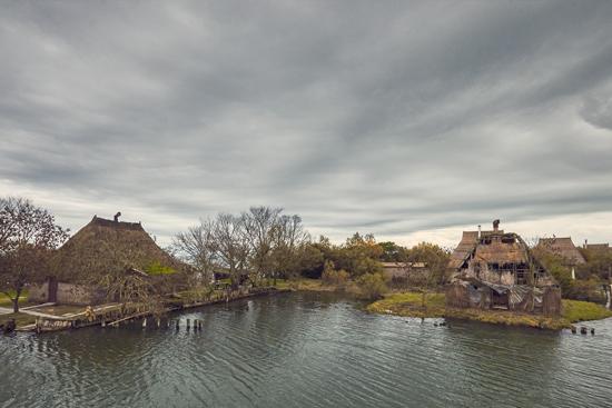 casoni nella laguna di Marano