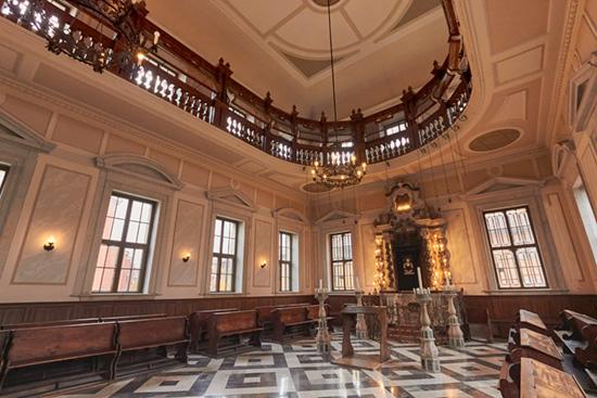 interno della sinagoga di gorizia