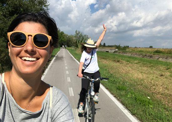 Sara e Katrina sulla ciclovia Alpe Adria