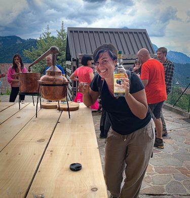 Sara de Colle alla distilleria Casato dei Capitani