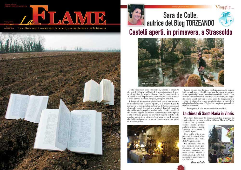 La Flame articolo su Castelli Aperti Strassoldo