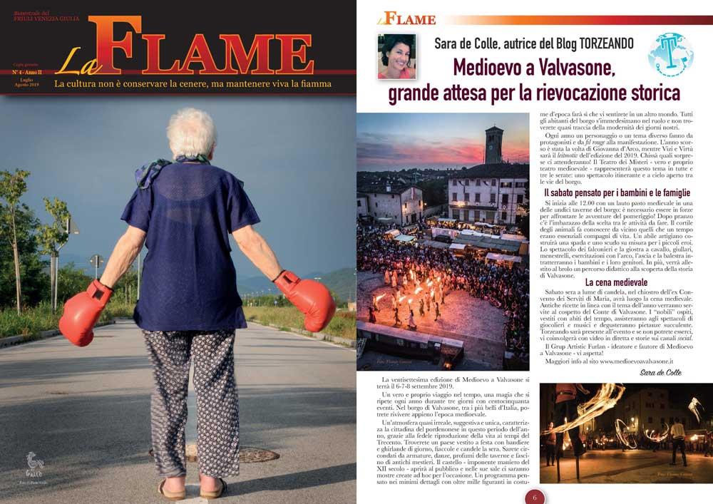 La Flame articolo su Medioevo a Valvasone