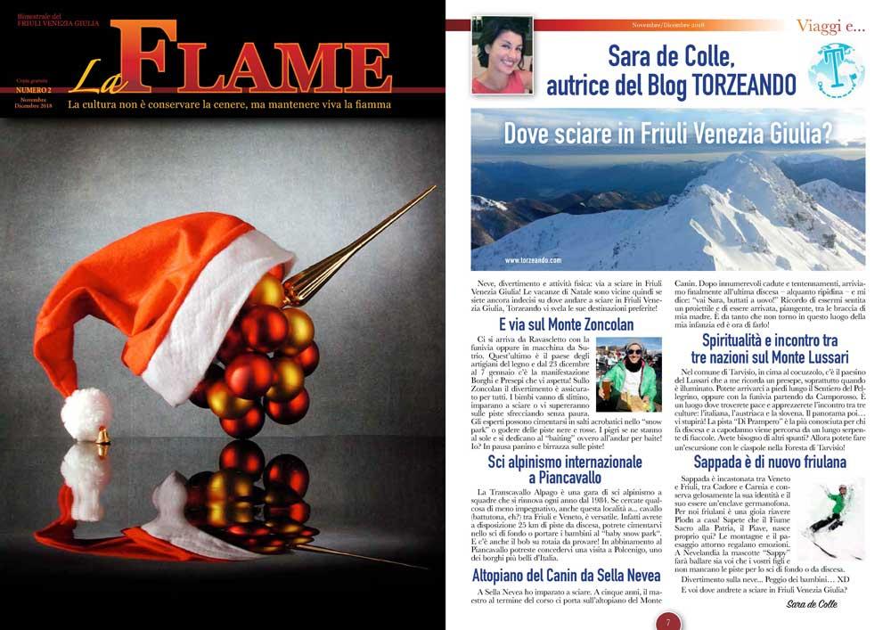 La Flame articolo su dove sciare in Friuli Venezia Giulia