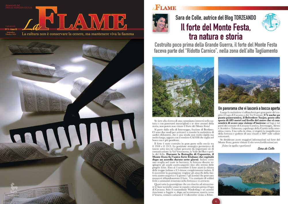 La Flame articolo sul forte di Monte di Festa