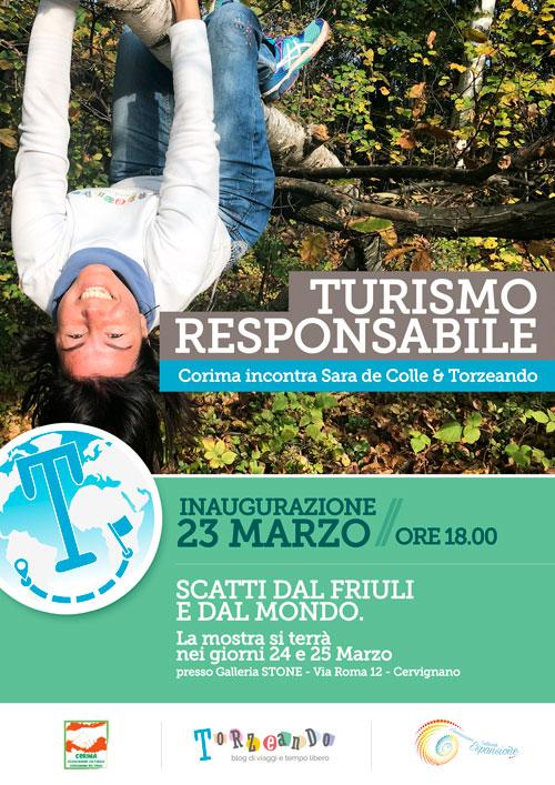 Locandina della mostra sul turismo responsabile
