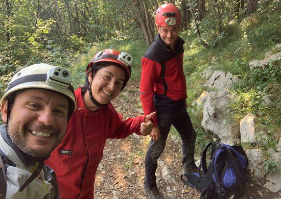 Jgor, Sara e Beppe alla grotta dell'acqua