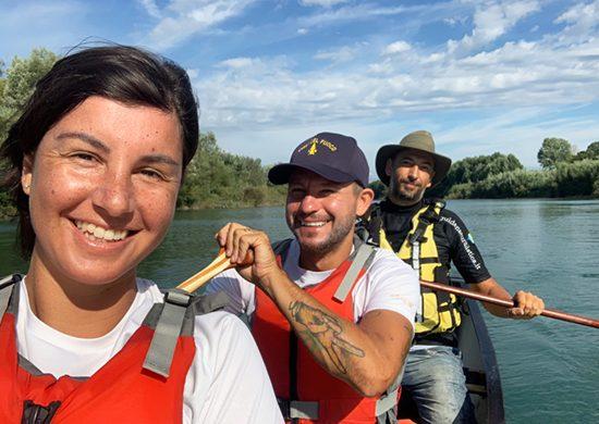 In canoa lungo il fiume Tagliamento
