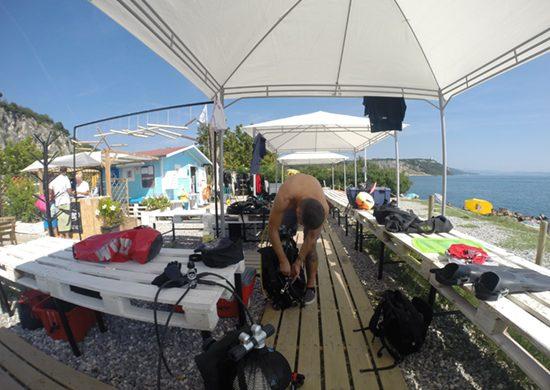 Il diving center di Sistiana