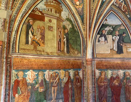 Particolare degli affreschi nella chiesa di San Leonardo
